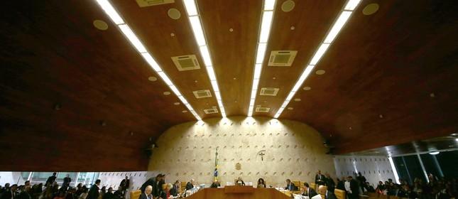 Plenário do Supremo Tribunal Federal (STF). (Foto: Jorge William /Agência O Globo)