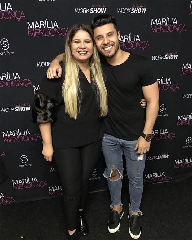 Marília Mendonça e Murilo Huff em dezembro de 2017 (Foto: Reprodução/Instagram)