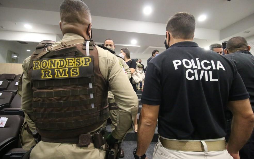Operação cumpre mandados na região metropolitana de Salvador, sul da Bahia e Rio de Janeiro — Foto: Divulgação/SSP-BA