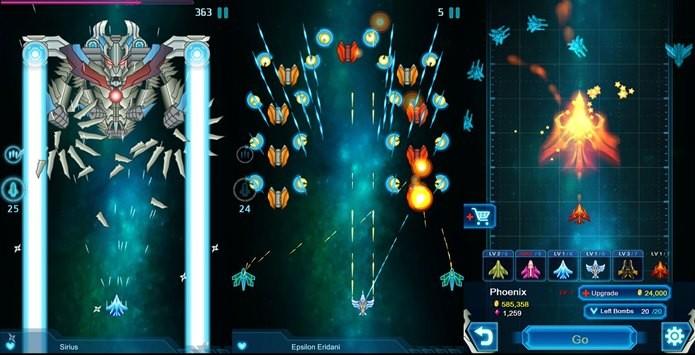 Visual simples e viciante, Galaxy Falcon é um brado ao antigos jogos de tiro (Foto: Divulgação)