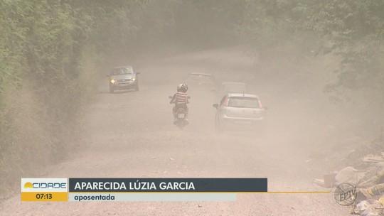 Falta de asfalto em vias gera poeira e transtornos em bairro de Rio Claro