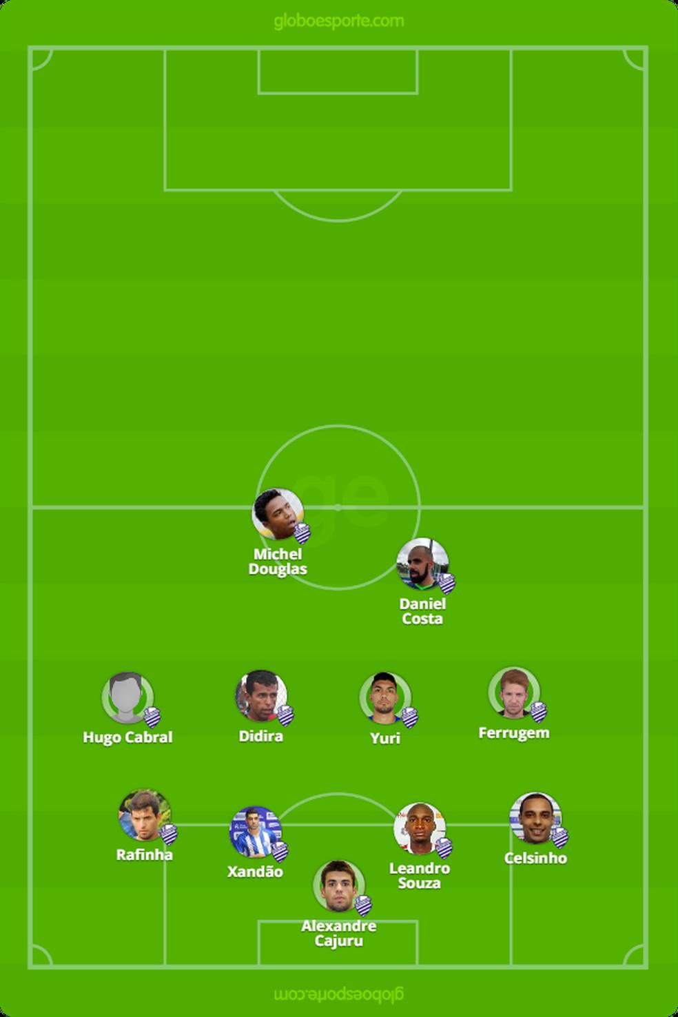 CSA jogou recuado no primeiro tempo contra o Vila (Foto: Arte - GloboEsporte.com)