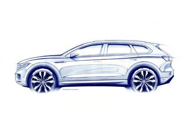 Teaser do novo Volkswagen Touareg (Foto: Divulgação)