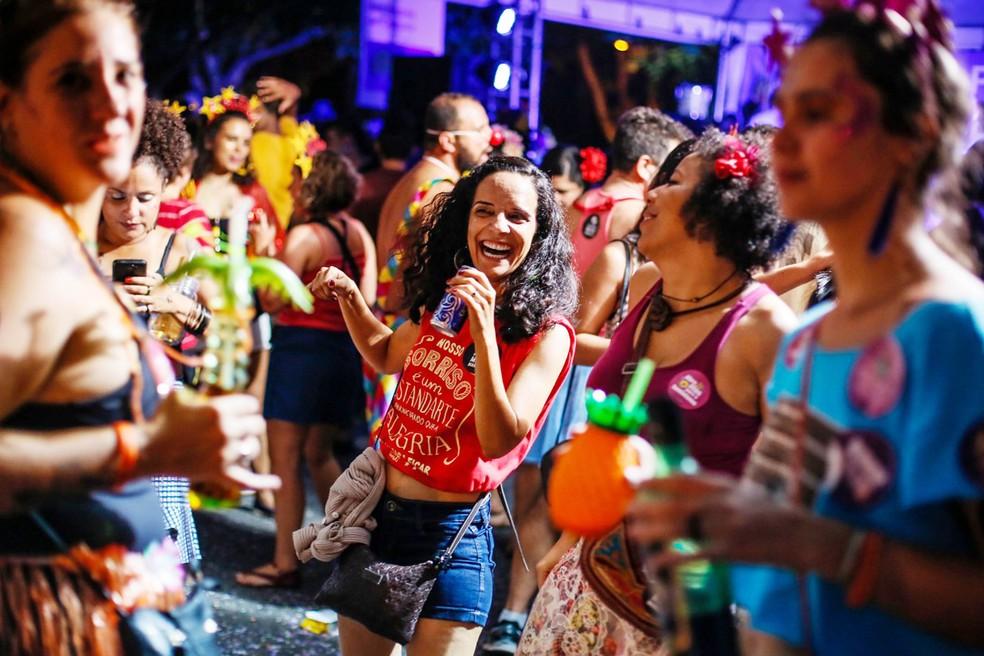 Foliãs no carnaval de rua de Brasília em 2019 — Foto: Secretaria de Cultura do DF/Divulgação