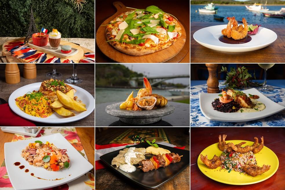 Pratos do Festival Sabores de Cabo Frio, RJ, têm preços previamente fixados — Foto: Divulgação/Festival Sabores de Cabo Frio