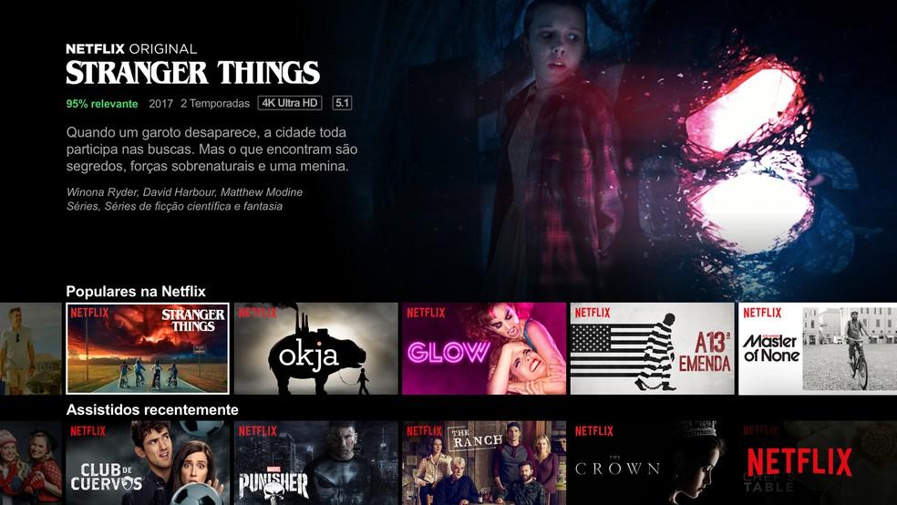 Stranger Things é a série mais assistida da plataforma na história — Foto: Divulgação/Netflix