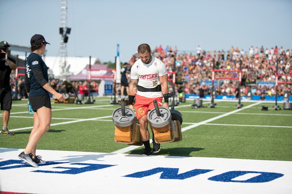 Mat Fraser em ação: americano conquista seu segundo título do CrossFit Games (Foto: Photo courtesy of CrossFit Inc.)