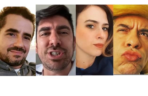 Felipe Andreoli, Marcelo Adnet, Tatá Werneck e Leandro Hassum foram alguns dos que postaram (Foto: Reprodução/Instagram)