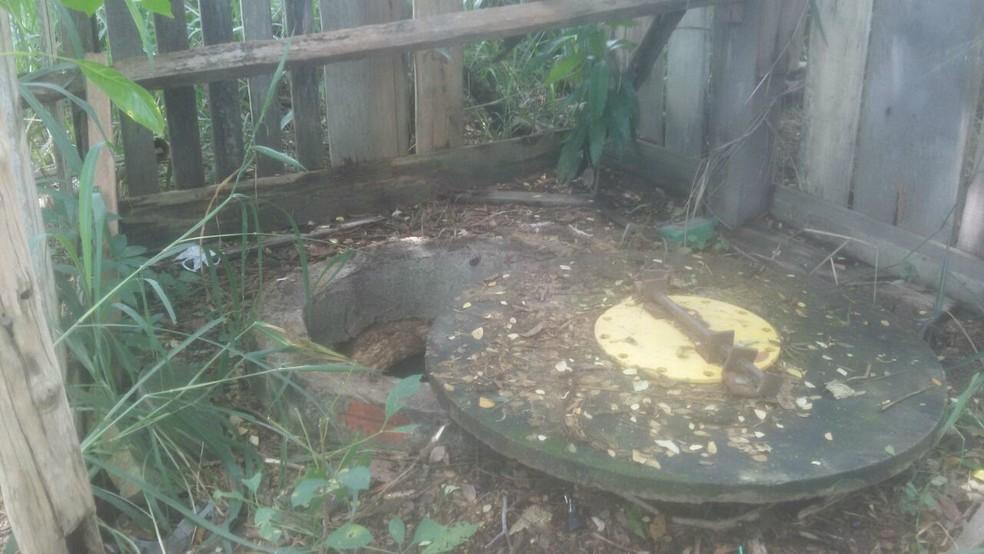 -  Corpo foi encontrado em poço em Jaci-Paraná  Foto: Polícia Civil/ Divulgação