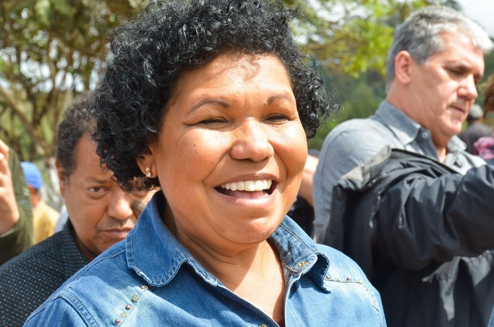 Vera Lúcia, candidata a presidente — Foto: NILTON CARDIN/ESTADÃO CONTEÚDO