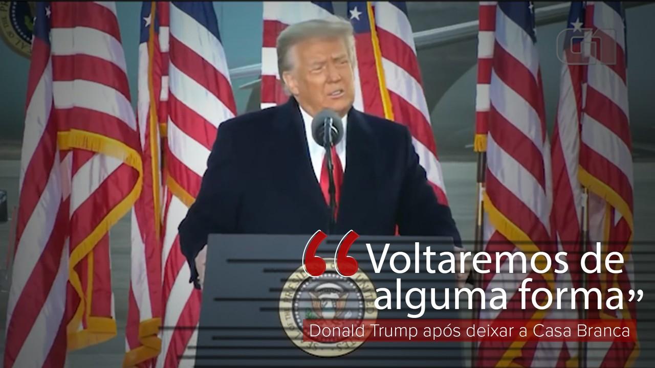 VÍDEO: Donald Trump discursa na sua despedida da Presidência dos Estados Unidos