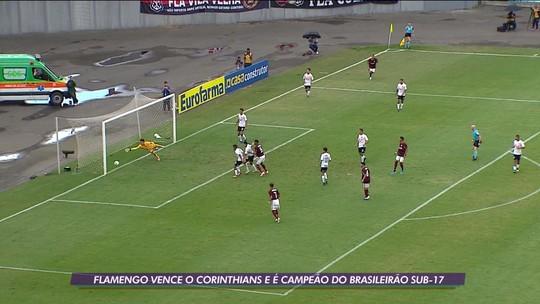 Flamengo vence o Corinthians e é campeão brasileiro sub-17