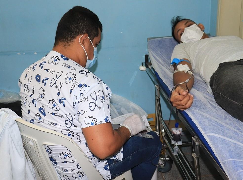 Bolsas de sangue começaram a ser coletadas nesta quarta, 15 — Foto: Prefeitura de Juruti/Divulgação