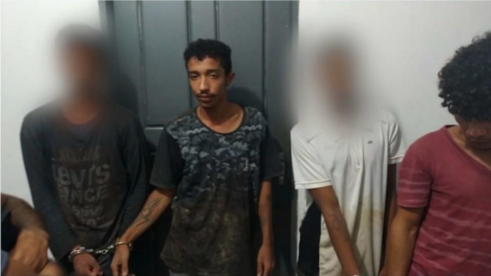Suspeitos de degolar homens e estuprar mulher em Grajaú são presos pela polícia — Foto: Reprodução/TV Mirante