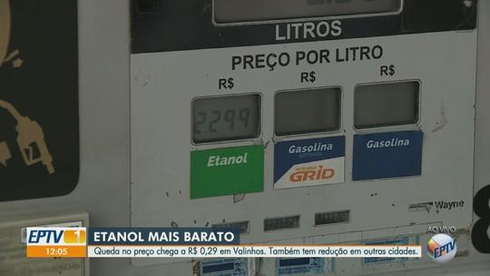 Valinhos registra maior redução no valor médio do etanol na região, diz ANP; veja variações em outras cidades