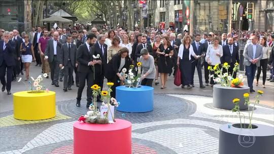 Protestos marcam passagem de um ano de ataque terrorista em Barcelona
