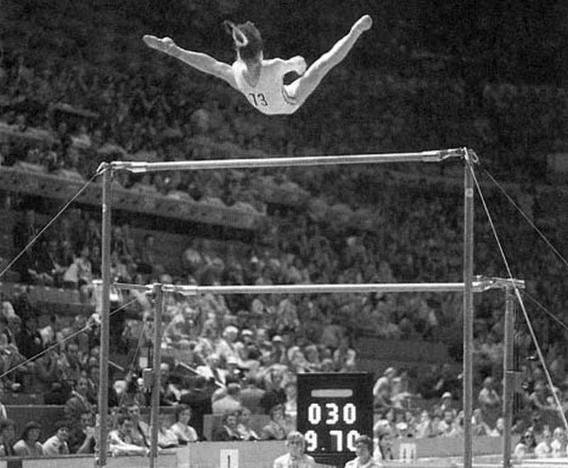 Nadia Comăneci durante as Olimpíadas de Montreal, em 1976 (Foto: Comitetul Olimpic si Sportiv Roman/Wikimedia Commons)