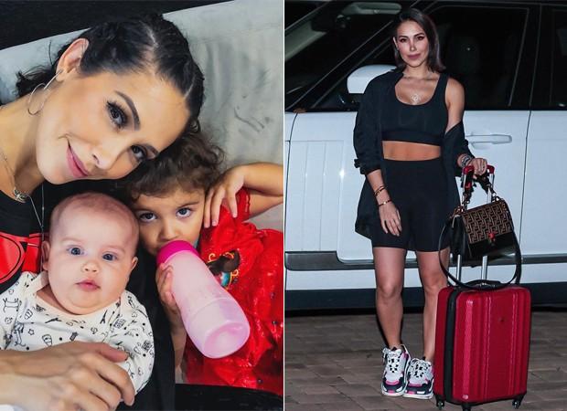 Bella Falconi e as filhas, Stella e Vicky (Foto: Reprodução / Instagram)