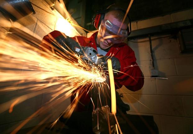 Produção industrial na zona do euro ; produção industrial na UE ; indústria na zona do euro ; indústria na UE ; PIB da zona do euro ; PIB da União Europeia ; PIB da UE ;  (Foto: Getty Images/Arquivo)