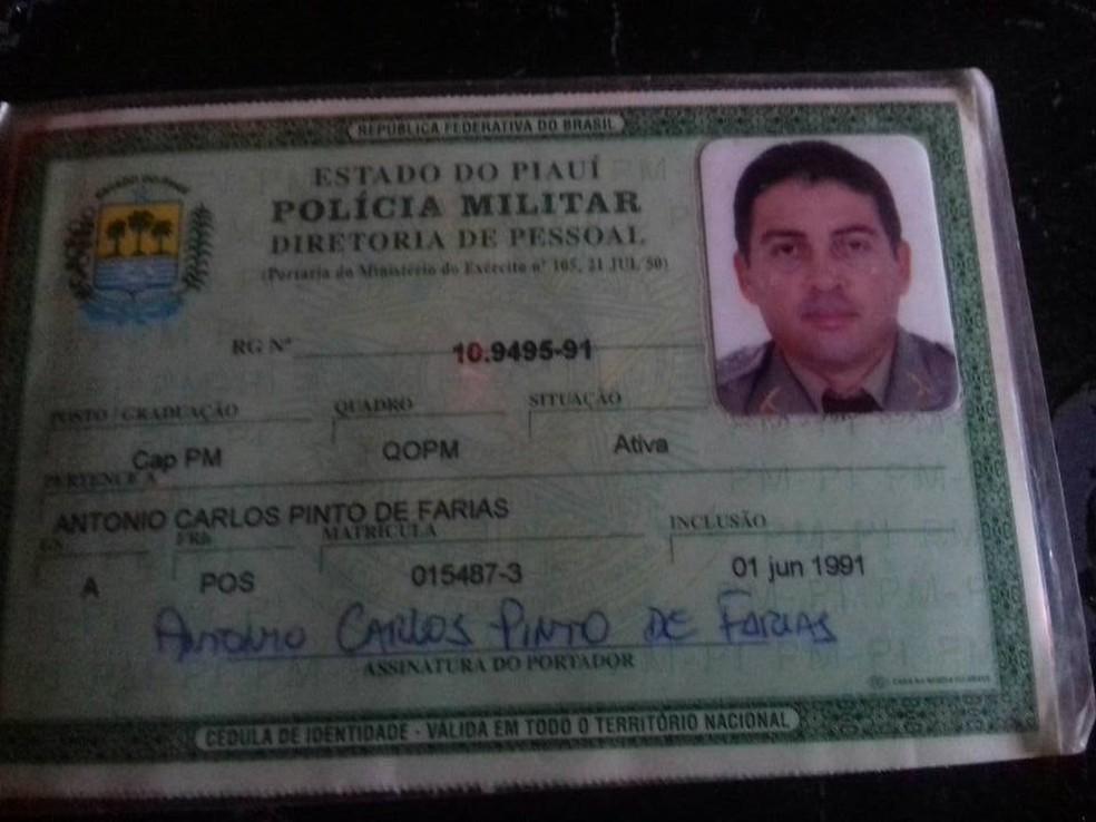capitão da PM-PI, Antônio Carlos Pinto de Farias (Foto: Digulgação/Polícia Militar)
