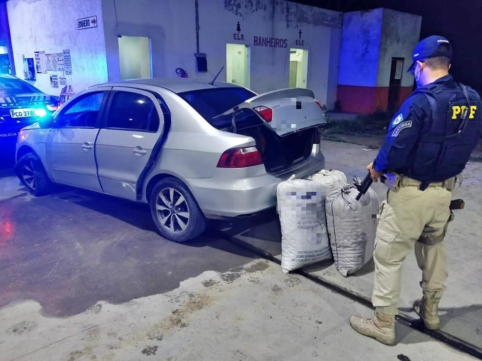 Droga apreendida em São Caetano — Foto: Polícia Rodoviária Federal/Divulgação
