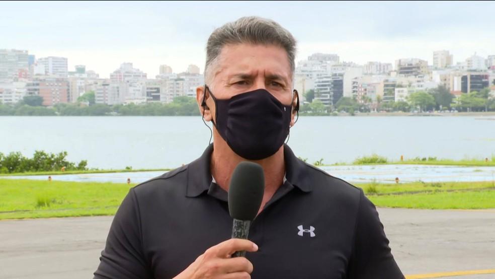 Adonis Lopes, piloto da Polícia Civil — Foto: Reprodução/TV Globo