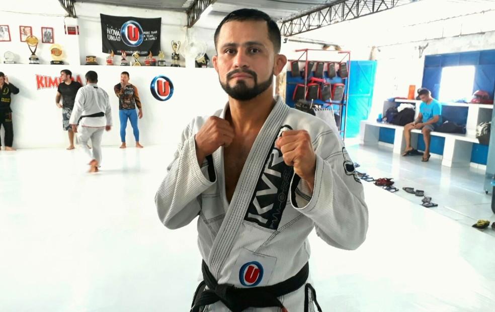 Lutador representa o RN no UFC (Foto: Klênyo Galvão/Inter TV Cabugi)