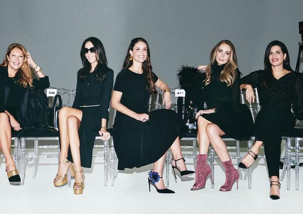 A partir da esquerda, Donata Meirelles, Catarina Pires, Marcela Scarpa, Renata Fischer e Fernanda Abdalla (Foto: Thiago Justo)