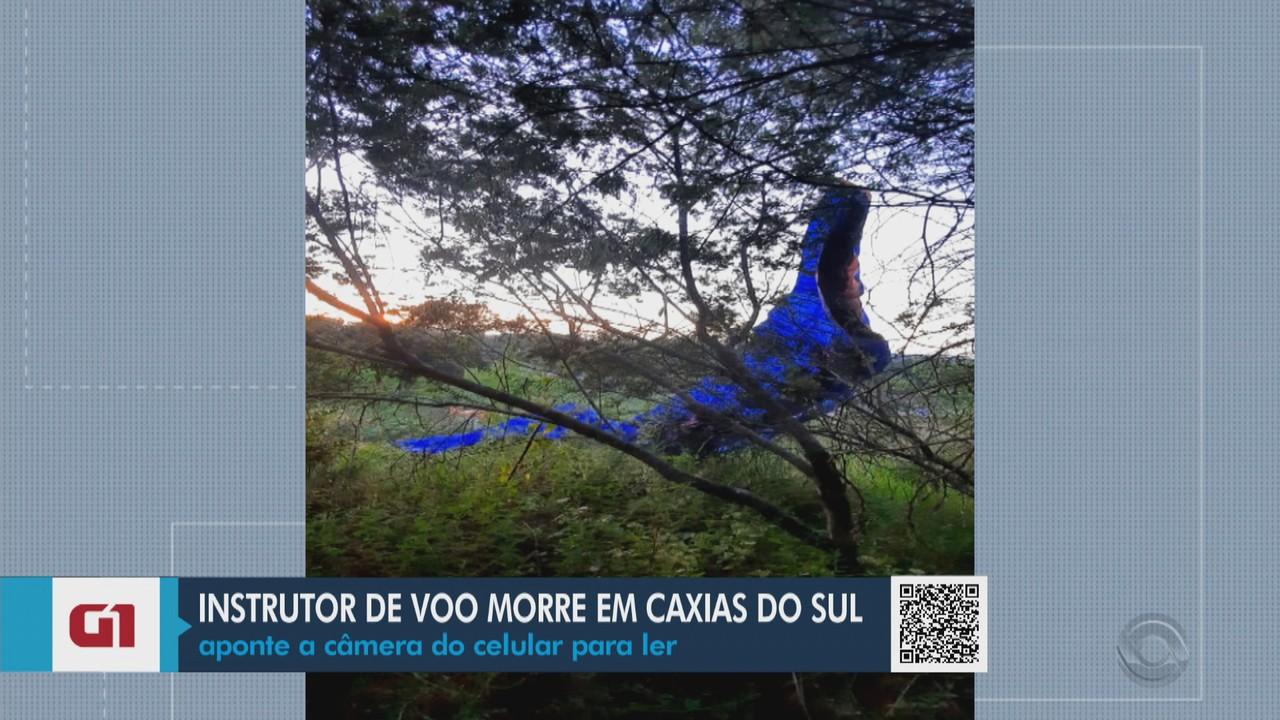 Instrutor de voo morre após paramotor cair em Caxias do Sul