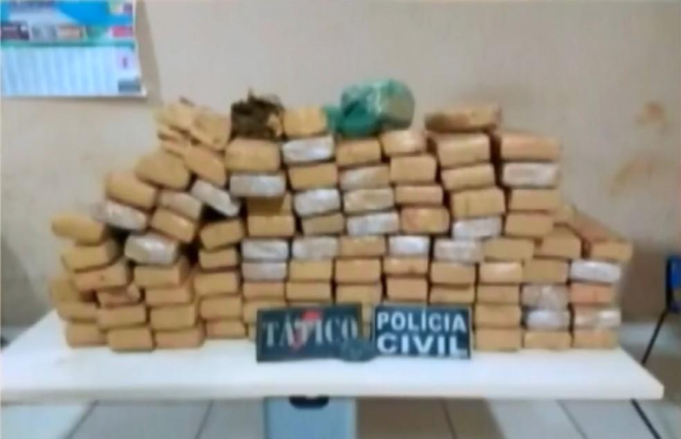 -  A Polícia encontrou 98 kg no fundo falso de um veículo em Altamira, sudoeste do Pará.  Foto: Reprodução / TV Liberal