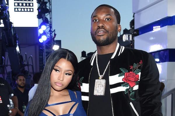 O rapper Meek Mill e a cantora Nicki Minaj quando ainda namoravam (Foto: Getty Images)