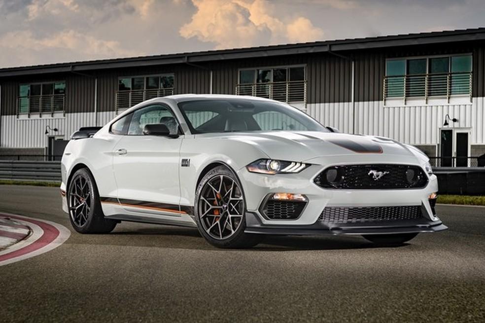 A nova versão Mach 1 irá complementar a gama do Mustang por aqui — Foto: Auto Esporte