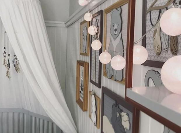 O estilo minimalista e ligado à natureza da atriz foi colocado na decoração do quarto de Rael (Foto: Instagram/ Reprodução)