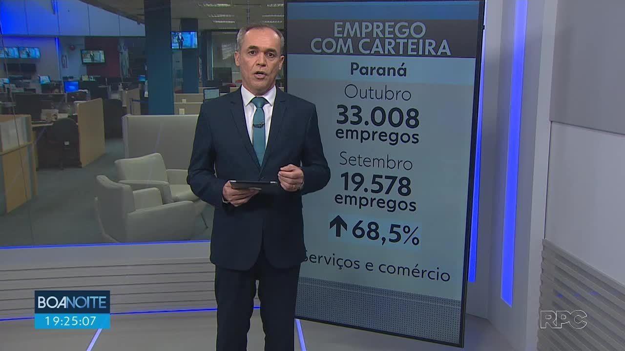 Paraná tem saldo positivo de 33 mil empregos com carteira assinada em outubro