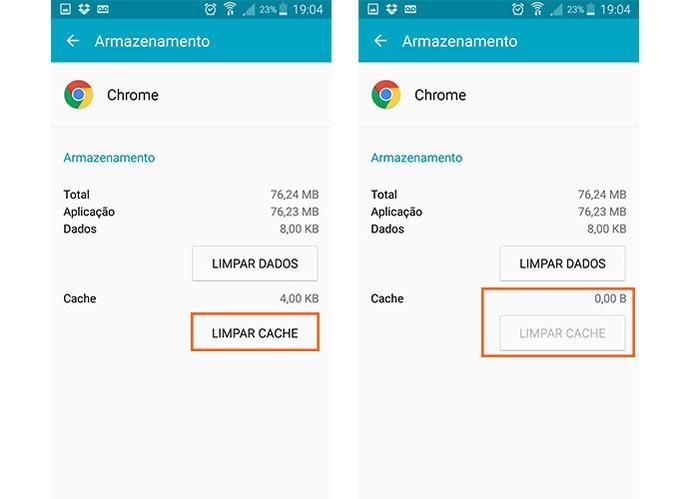 Limpe o cache do Chrome no Android (Foto: Reprodução/Barbara Mannara) (Foto: Limpe o cache do Chrome no Android (Foto: Reprodução/Barbara Mannara))