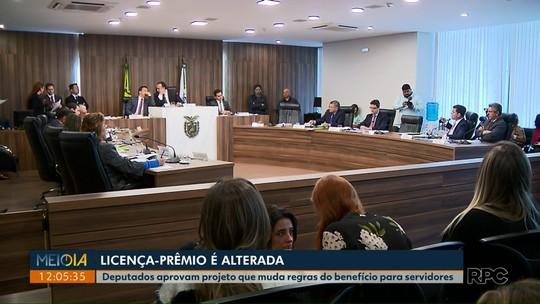Deputados do Paraná aprovam fim de licenças-prêmio para novos servidores