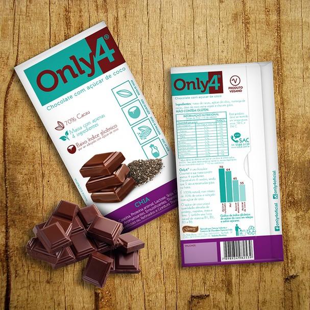 Chocolate com açúcar de coco, Only 4 (Foto: Reprodução Instagram)