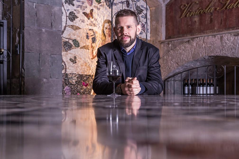 Maurício Salton: vinícola teve aumento de 40% das vendas, mesmo com redução de procura por espumantes. — Foto: Divulgação/Eduardo Benini