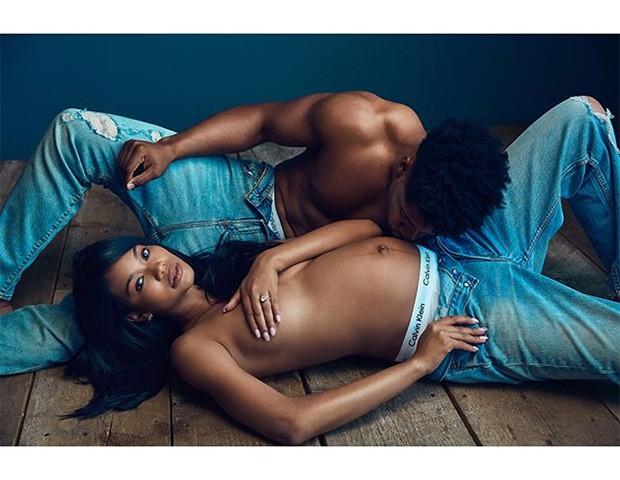 Chanel Iman e Sterling Shepard (Foto: Instagram)