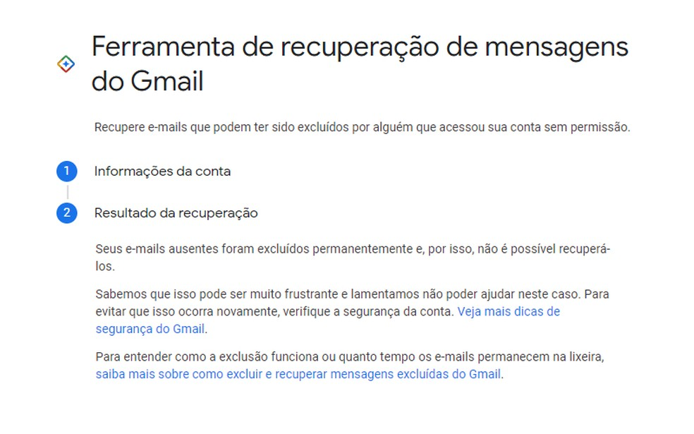 Pesquisa pode encontrar ou não e-mails apagados do Gmail — Foto: Reprodução/Rodrigo Fernandes