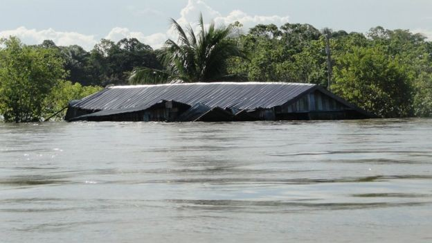 Aquecimento global e gases estufa têm efeitos diretos e indiretos sobre as chuvas amazônicas, que incluem até um 'portal entre os oceanos Atlântico e Índico' (Foto: JOCHEN SCHONGART/INPA/BBC)