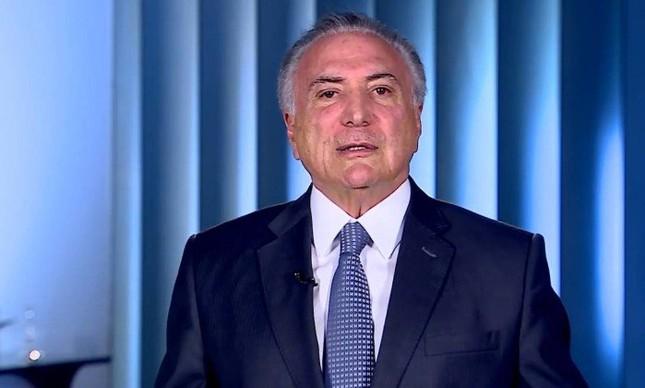 Temer grava vídeo com críticas a Alckmin