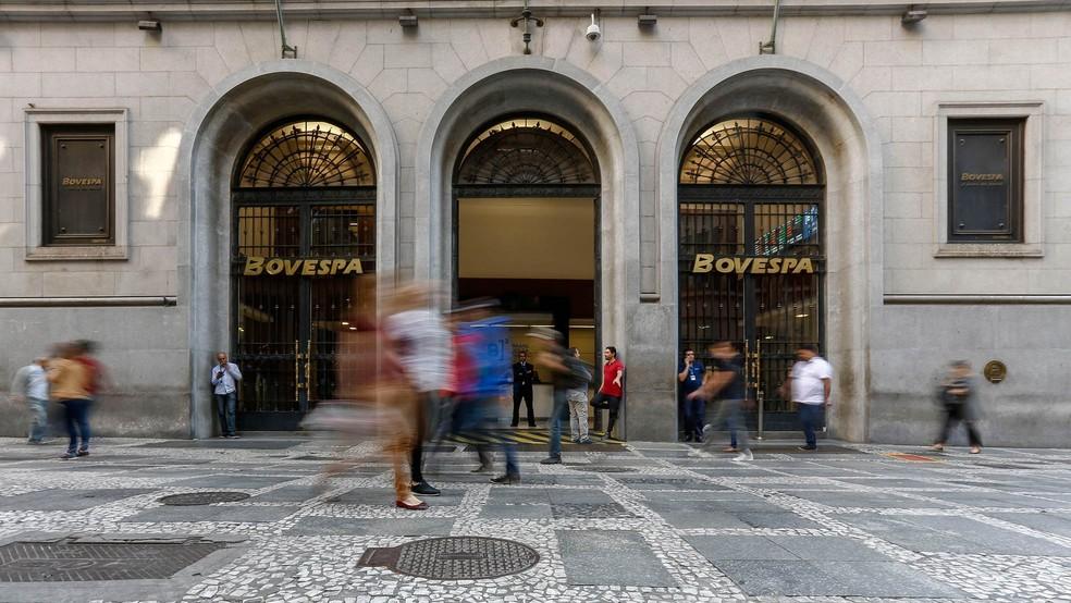 Sede da Bovespa, no Centro de São Paulo — Foto: Miguel Schincariol/AFP/Arquivo