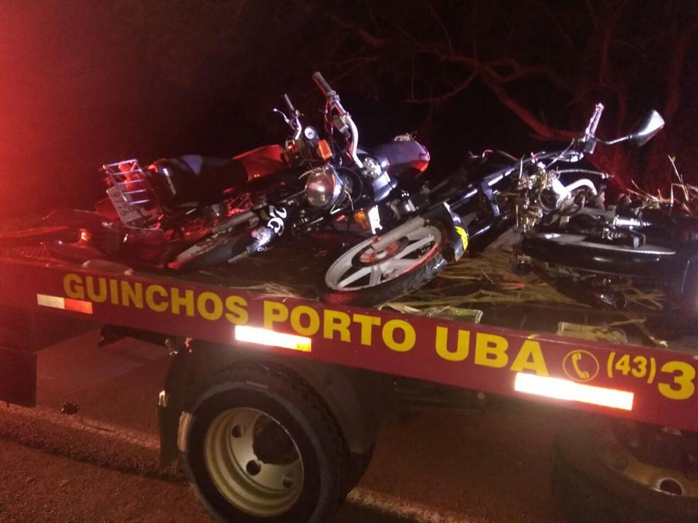 Acidente entre motos e caminhão deixa seis mortos na PR-082, em Lunardelli (Foto: Danilo Brumatte/Arquivo pessoal)