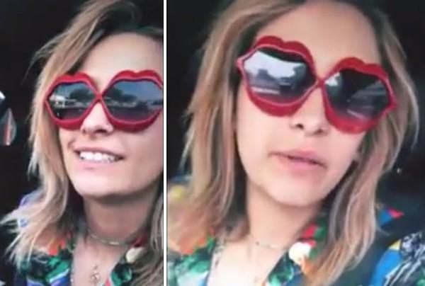 Paris Jackson no vídeo no qual faz piada com as preocupações de seus familiares sobre seu estado emocional (Foto: Instagram)