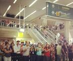 Público no Aeroporto Internacional do Galeão, no Rio | Reprodução