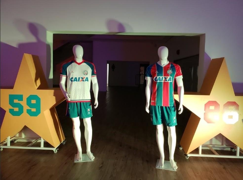3c78b24f4b88a ... As novas camisas foram lançadas em evento realizado na Arena Fonte Nova  — Foto  EC