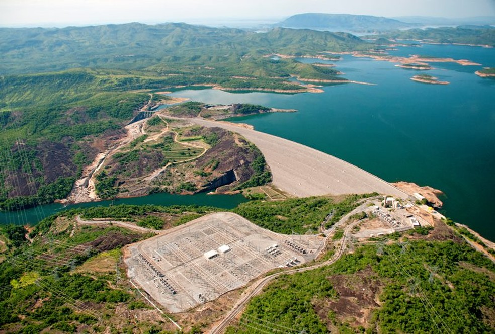 Reservatório da hidrelétrica de Serra da Mesa, em Goiás — Foto: Divulgação Furnas/AC Junior