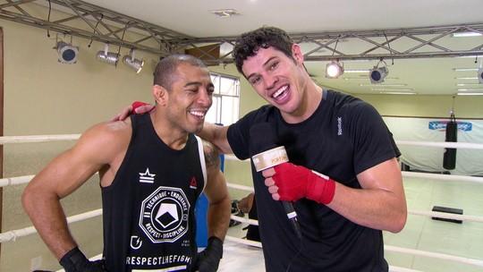 José Loreto tem dia de lutador com José Aldo no Repórter por um Dia
