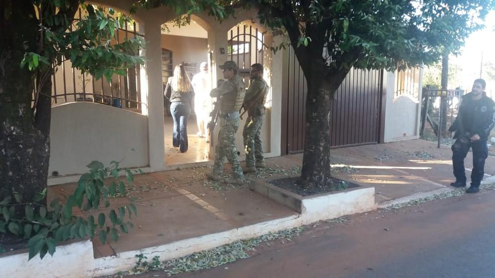 Em 2019, a polícia cumpriu mandado de prisão e de busca contra delegado em MS — Foto: Osvaldo Nóbrega/TV Morena